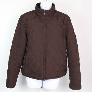 Weatherproof brown quilted reversible jacket